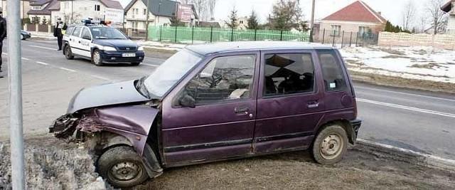 Kierowca tico trafił do szpitala