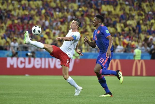 W meczu z Kolumbią Robert Lewandowski oddał dwa celne strzały w bramkę Davida Ospiny.