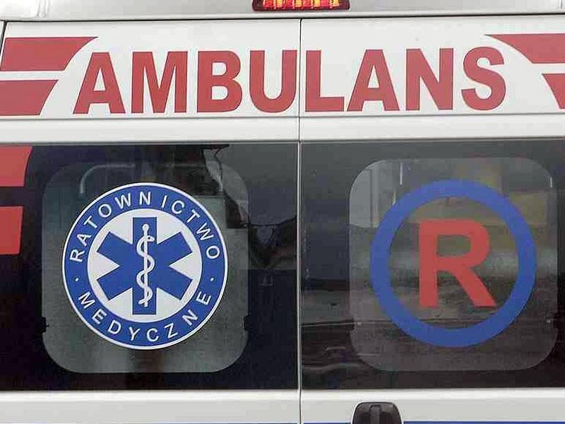 Ranny robotnik trafił do szpitala