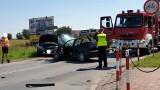 Zderzenie czterech samochodów na 1 Maja w Knurowie. Kobieta została zabrana do szpitala na badania