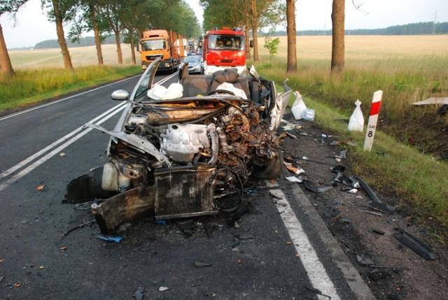 Wypadek między Rychnowami a obwodnicą Chojnic miał miejsce 8 07 2015