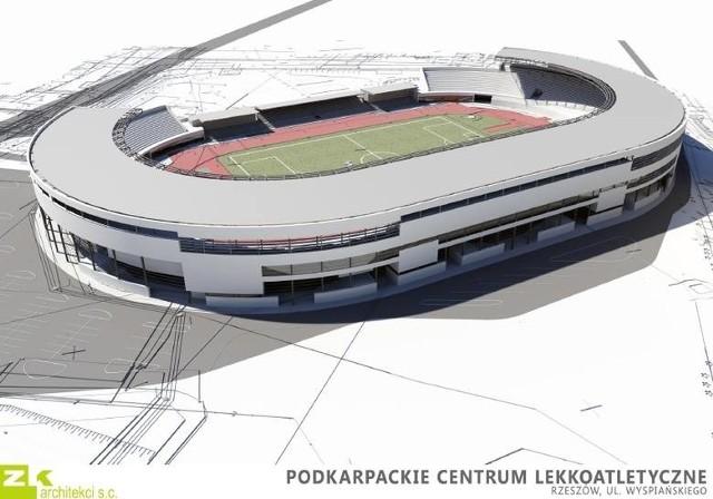 Tak ma wyglądać stadion przy ul. Wyspiańskiego po zakończeniu rozbudowy.