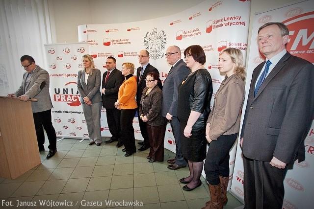 Wrocław, SLD prezentuje kandydatów do Parlamentu Europejskiego