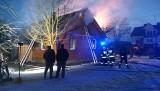 Łubin Kościelny. Pożar domu jednorodzinnego w powiecie bielskim (zdjęcia)