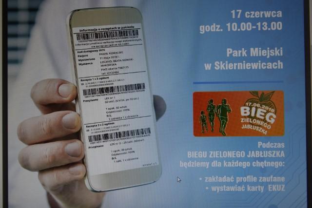 Łódzki Odział Narodowego Funduszu Zdrowia zaprasza wszystkich mieszkańców do Parku Miejskiego, gdzie w niedzielę, 17 czerwca, podczas Biegu Zielonego Jabłuszka zorganizuje stoisko informacyjne dotyczące e-Recepty.