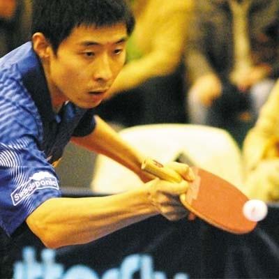 """Wang Zeng Yi ostatnio awansował do półfinału ITTF Pro Tour w Salburgu. Wczoraj w Białymstoku poprowadził Bogorię do zwycięstwa nad Baruchem. - O wygraną nie było łatwo - podsumował """"Wandżi""""."""