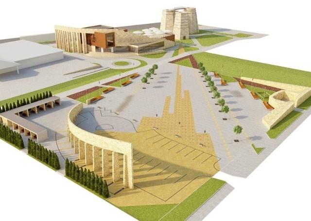 Tak wyglądać będzie centrum miasta w przyszłości. Obecnie planowane jest zagospodarowanie terenów przy piecach wapiennych.