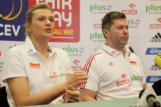 Malgorzata Glinka-Mogentale i  trener Piotr Makowski