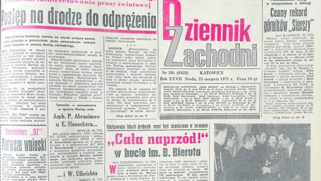 """Wydanie """"Dziennika Zachodniego"""" z 25 sierpnia 1971 r. Częstochowska huta do pracy przyjmowała nawet uczniów"""