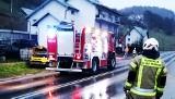 Straże pożarne z dwóch powiatów działały na miejscu wypadku w Zabrzeży