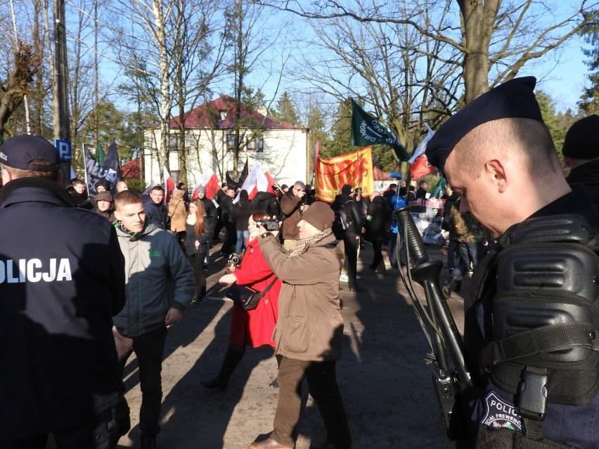 Tak wyglądał I Marsz Żołnierzy Wyklętych w Hajnówce i...