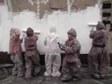Katowice: mieszkańcy malują olbrzymi mural na Cynkowej ZDJĘCIA
