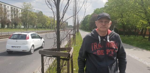 Sławomir Czyżewski jest oburzony dopuszczeniem do zniszczenia cennych drzew.