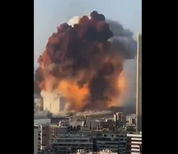 Potężny wybuch w Bejrucie. Są zabici oraz setki rannych....