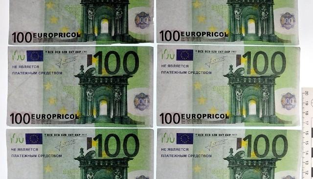 Mołdawianin wjeżdżający do Polski, okazał strażnikom granicznym zabawkowe banknoty euro.