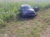 Wypadek na drodze wojewódzkiej pod Łabiszynem [zdjęcia]