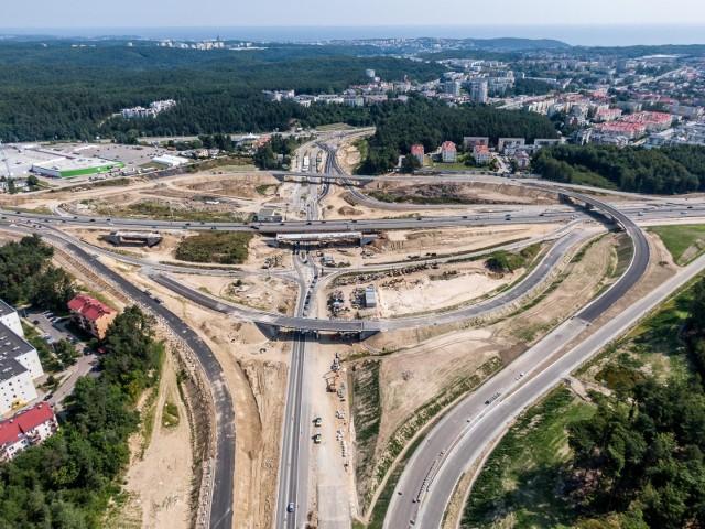 Budowa węzła Wielki Kack Trasy Kaszubskiej w Gdyni jest już na dość zaawansowanym etapie.