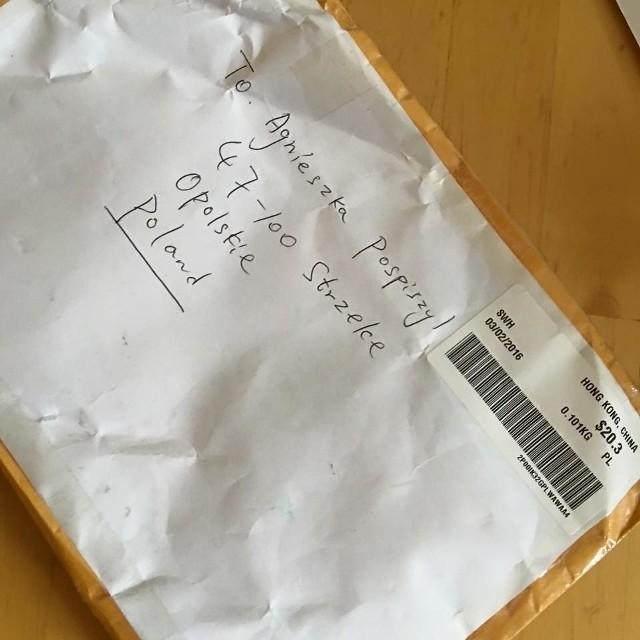Taki adres wystarczył listonoszowi, żeby dostarczyć przesyłkę do adresatki.