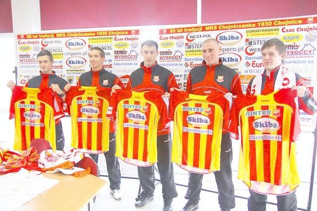 Od lewej: Filip Marciniak, Patryk Stromczyński, Aleksandar Atanacković, Wojciech Wolański, Mateusz Chudziński.