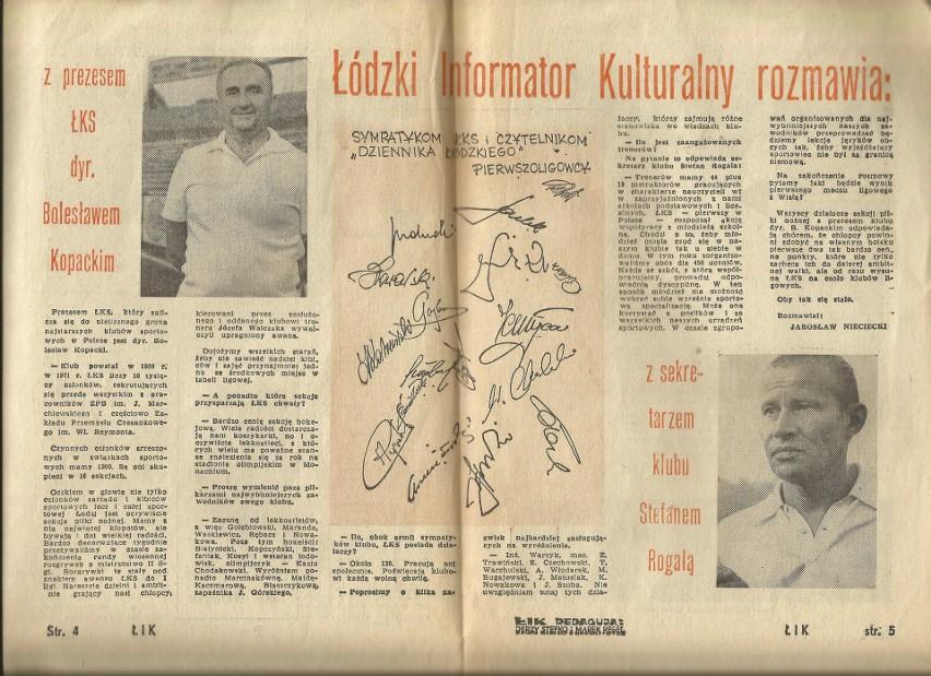 Wywiad z prezesem ŁKS Bolesławem Kopackim, wujkiem dzisiejszego sternika ŁKS Tomasza Salskiego