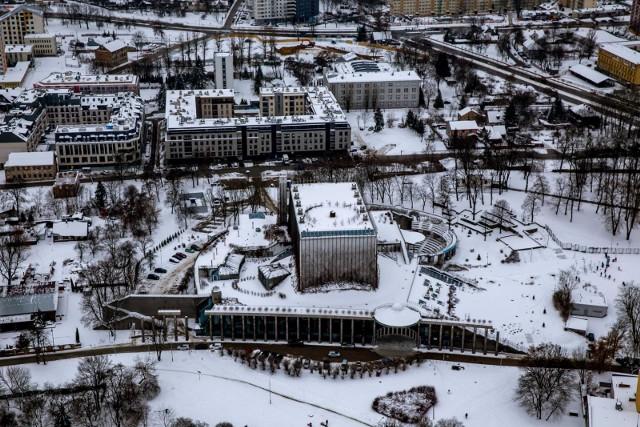 2019-01-12 bialystok z lotu ptaka zima snieg fot. wojciech wojtkielewicz/kurier poranny gazeta wspolczesna / polska press