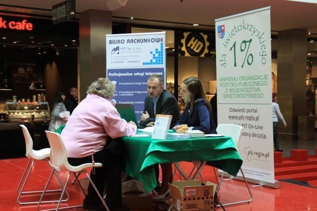 Kilkadziesiąt osób skorzystało z bezpłatnej profesjonalnej pomocy przy wypełnianiu rocznej deklaracji podatkowej w ramach akcji www.pitregio.pl – 1% dla Świętokrzyskiego.