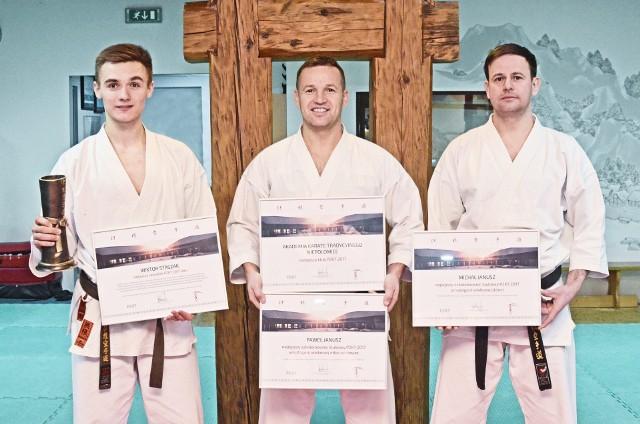 Od lewej: Wiktor Staszak, Paweł Janusz i Michał Janusz