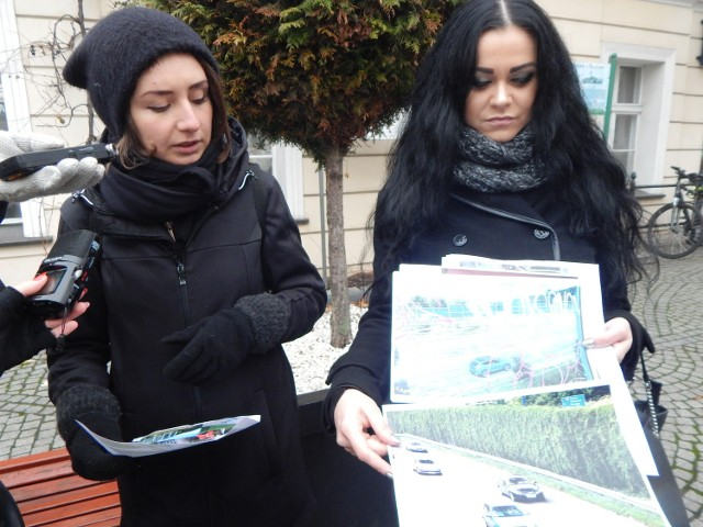 Anna Kraśko (Centrala Twórcza F 13) i Barbara Marcinów (ruch miejski Obywatele Zielonej Góry) prezentują pomysły zgłoszone do budżetu obywatelskiego 2017.