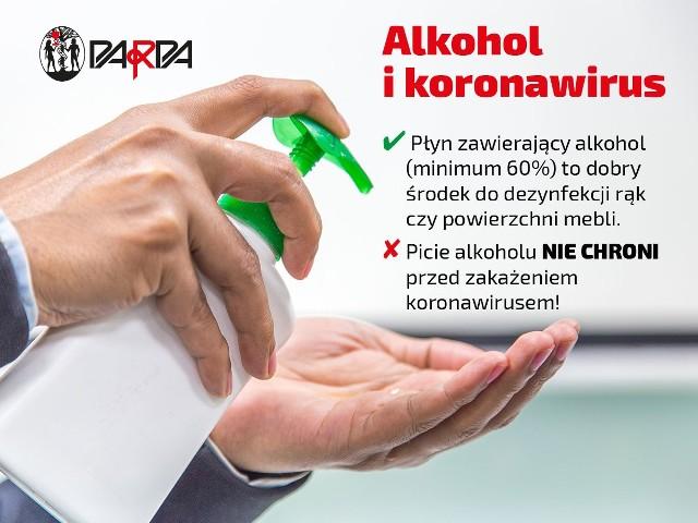 """Alkohol i koronawirus. Obalamy mit o """"odkażaniu organizmu"""""""