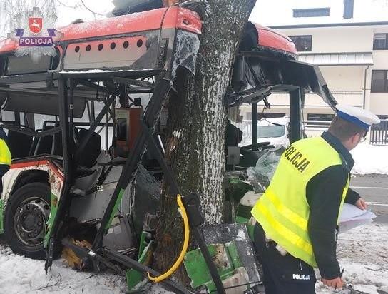 Wypadek autobusu MPK na lubelskim Czechowie