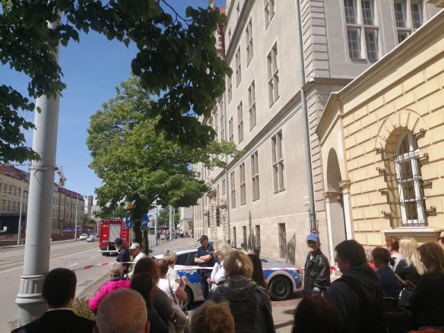 Ewakuacja Sądu Okręgowego w Gdańsku, 9.06.2020