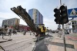 Na Nowym Dworze budują tory dla tramwajów. Zaczęły się kłopoty