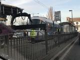 Wykolejenie tramwaju przed mostem Grunwaldzkim. Są objazdy