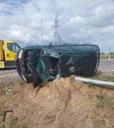 Na S5 w okolicy Żnina doszło do wypadku. Dwie osoby trafiły do szpitala [zdjęcia]