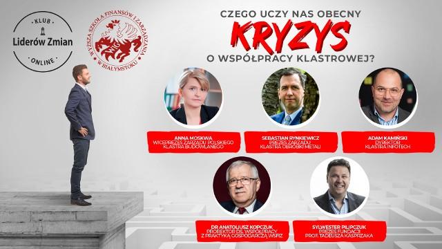 """Webinarium Klubu Liderów Zmian WSFiZ w Białymstoku z cyklu """"Czego uczy nas obecny kryzys?"""""""