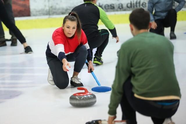 Otwarty trening curlingu w Krakowie