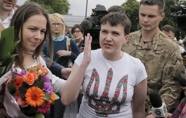 Nadia Sawczenko w Kijowie