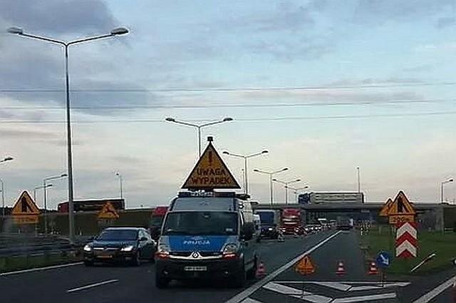 Do wypadku doszło na remontowanym odcinku A4.