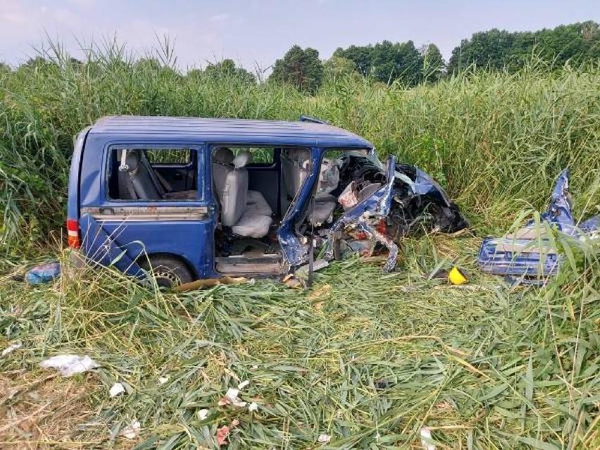 Wypadek koło Radomska.