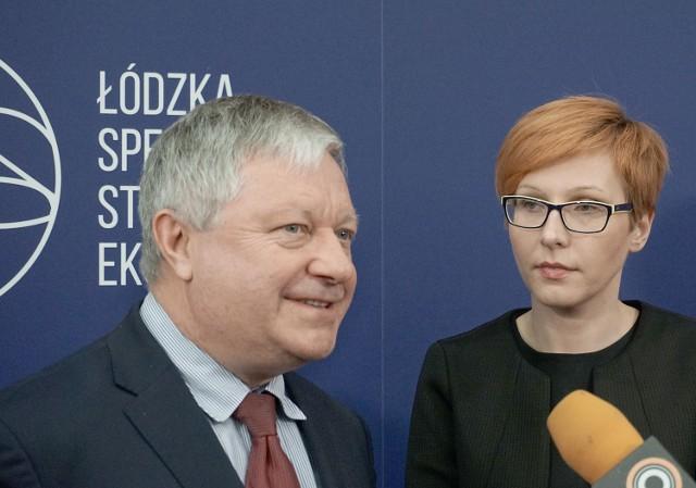 Marek Michalik, prezes Łódzkiej Specjalnej Strefy Ekonomicznej i Agnieszka Sygitowicz, wiceprezes