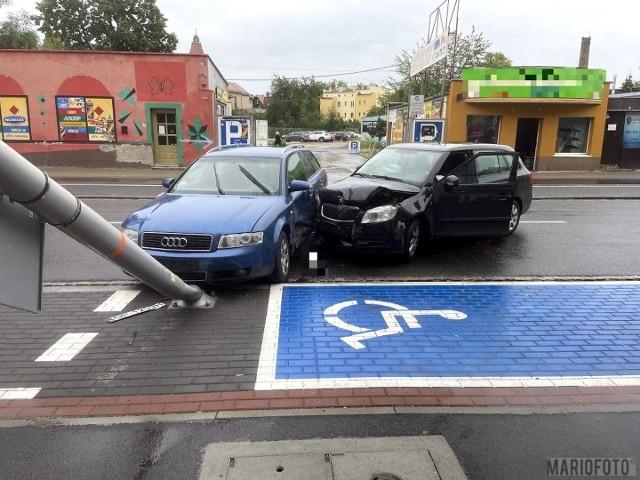Wypadek na ulicy Oleskiej w Opolu.