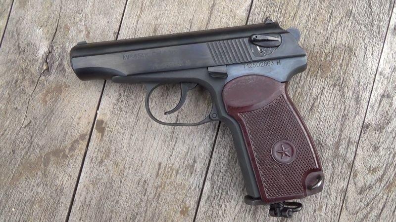 Obywatel Białorusi przewoził nielegalnie pistolet Bajkał MP-654K Makarov wz. 71, kaliber 4,5mm.