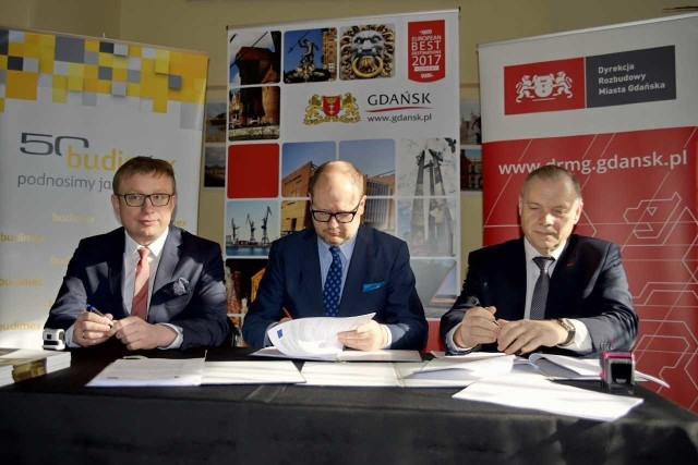 Podpisanie umowy z wykonawcą Wiaduktu Biskupia Góra, 5 marca 2018 r.