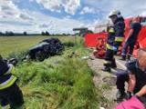 Śmiertelny wypadek w Konarzynkach 23.06.2020. W wyniku zderzenia samochodów zginęła 35-letnia kobieta i jej pies
