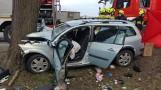 Śmiertelny wypadek w miejscowości Zabagno 17.04.2021 r. Nie żyją trzy osoby, czwarta jest ranna [zdjęcia]