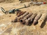 Chełm Śląski. Saperzy zabezpieczyli 59 pocisków, 15 zapalników i 46 sztuk łusek z czasów II wojny światowej