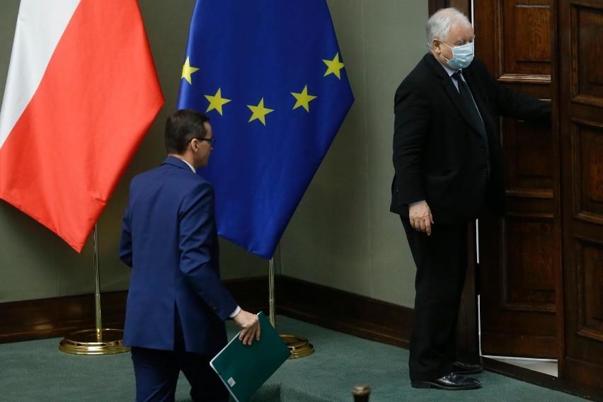 Polski Nowy Ład PiS. Prezes Jarosław Kaczyński i premier...