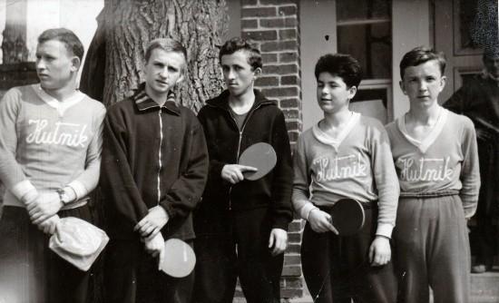 Od lewej: Wiesław Chajdecki (Hutnik Kraków), Eugeniusz Grzanka (Start Pabianice), Henryk Betman (Start Włocławek), Czesław Knapik i Zenon Ilczuk (obaj Hutnik Kraków)