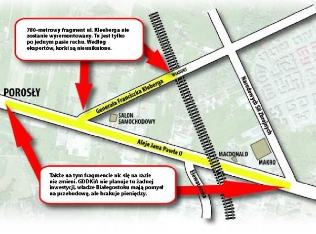 Miasto planuje przebudowę al. Jana Pawła II aż do skrzyżowania z ul. Narodowych Sił Zbrojnych.