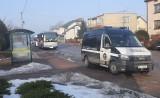 Nietrzeźwy kierowca autobusu zatrzymany przez Inspekcję Transportu Drogowego w Olszewie-Borkach. 25.02.2021 przewoził dzieci